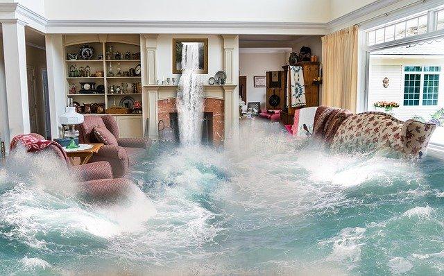 potopa v obýváku